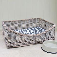 Wicker Dog Bed Pet Basket Rectangular TBS23672 in Pet Supplies, Dog Supplies, Beds   eBay