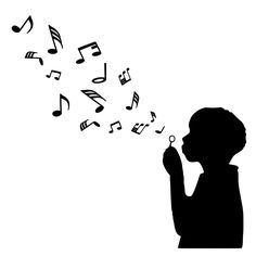 For your consideration is a die-cut vinyl Child Blowing Music Notes decal available in multiple sizes and colors. Vinyl decals will stick to any smooth clean surface including glass, walls, laptops, p