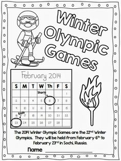 Winter Olympics-Reading Comprehension and Writing from