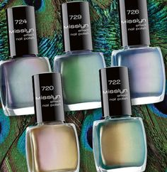 Peacock colored nail polish