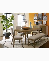 Champagne Dining Trestle Table, Only at Macy\'s - Dining Room Tables ...