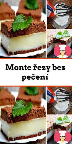 Monte rezy bez pecení Vanilla Cake, Tiramisu, Cheesecake, Pudding, Breakfast, Ethnic Recipes, Food, Cool Desserts, Schokolade