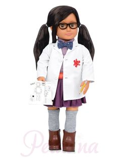 Our Generation Professional Doll - Blanca Inventor Og Dolls, Girl Dolls, Journey Girls, Our Generation Dolls, Purple Skirt, Complete Outfits, 18 Inch Doll, Role Models, Trendy Outfits