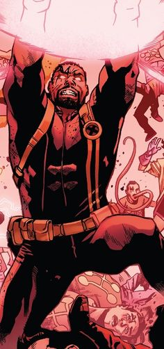 Bishop from Uncanny X-Men Vol 5 - art by Mahmud Asrar X Men, The Uncanny, Deadpool, Superhero, People, Kids, Fictional Characters, Art, Young Children