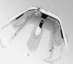 Volvo Concept Coupe Interior Design Sketch