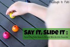 A quick prep way to teach kids how to break words into sounds. {Playdough to Plato}