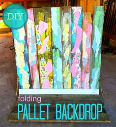 Stage gorgeous photographs with a backdrop made from a pallet. Folds up for easy storage!
