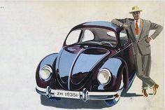 VW Käfer 1951 in der Werbung