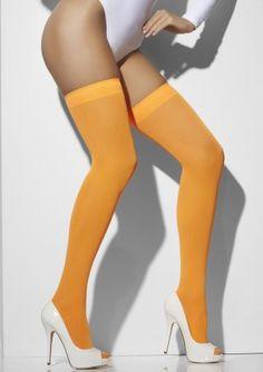 Deze leuke oranje kousen gaan over de knie en hebben een band aan de bovenzijde. Zeer geschikt voor een Nederlands feestje zoals Koningsdag of een sportevenement waar we voor Nederland juichen. De kousen zijn one size en zitten comfortabel.