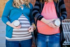 Friend/Sister's maternity idea. if me and @Lauren Davison Davison Mauney are ever pregnant at the same time....