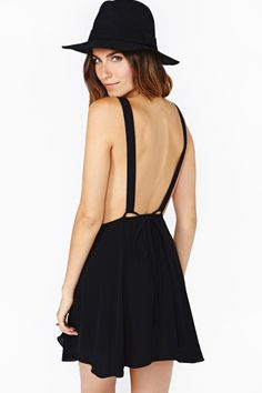 Sweet Suspense Dress in Black by Nasty Gal