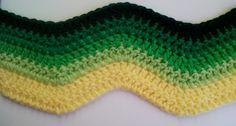 Hekel Idees: Tutoriaal: Hoe om 'n sig-sag patroon te hekel. Crochet Throw Pattern, Easy Crochet Hat, Crochet Stitches, Knit Crochet, Afrikaans, Sewing Crafts, Free Pattern, Hoe, Stitches