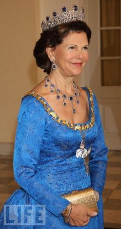 queen silvia of sweden - gala dinner celebrating Queen Margrethe's 40 years on the throne