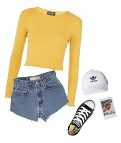"""""""Untitled #1771"""" by hannabs on Polyvore featuring Topshop, Brandy Melville, adidas and Converse"""