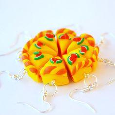 Cute WATERMELON CAKE polymer clay earrings
