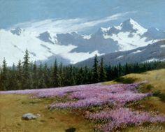 Stanislaw Witkiewicz - Krokusse vor verschneiter Berglandschaft
