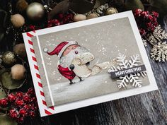 I posted about the latest Simon Says Stamp Card Kit recently, and today I have a card to share using the kit stamp set, Christmas Cheer. As I write this post, there are still some of the December Card Homemade Christmas Cards, Christmas Cards To Make, Xmas Cards, Handmade Christmas, Holiday Cards, Christmas Crafts, Card Making Inspiration, Making Ideas, Christmas Countdown Calendar