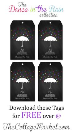 Free Chalkboard Printable Tags with Inspirational Quote - The Cottage Market