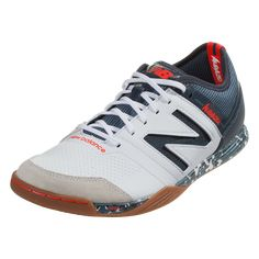 34257c056 New Balance Audazo 3.0 Pro IN Indoor Soccer Shoe White Light Petrol-12.5  Indoor