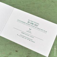 Trouwkaart Niek en Eline – Letterpers.nl Personalized Items