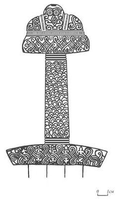 Reconstruction of the decoration on the sword purdoshanskom Sword Hilt, Viking Sword, Ancient Vikings, Viking Art, Sarah Kay, Celtic Art, Viking Jewelry, Dark Ages, Paper Clip