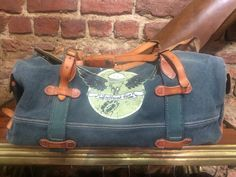 Thedileather bag , combination leather with canvas.