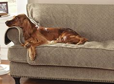 """Orvis Grip-tight Furniture Protector / Only X-large Sofa Protector 86""""w, Brown Tweed. Free Standard Shipping on all Orders of $150 or more for all Orvis Products. Limited Time Only!."""