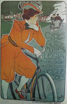 Vintage Bicycle Posters: Legia Cycles et Automobiles by Mikael Colville-Andersen, via Flickr