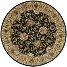 Safavieh Handmade Traditions Black/ Light Brown Wool Rug (6' Round)