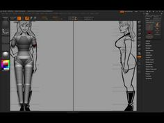 Tutorial on ZBrush modeling using reference and Skin