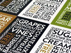 typographic restaurant table menu design