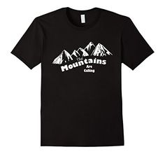 Men's The Mountains Are Calling T-Shirt On Amazon - Many Sizes and Colors - Men's, Women's and Kids