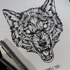 Tattoo design wolf