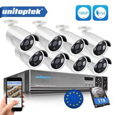 True POE NVR And IP Network Bullet Cam Outdoor Weatherproof Security Camera Video Surveillance System Night Video, Search Video, Network Cable, Surveillance System, Ip Camera, Security Camera, Plugs, Health Care, App