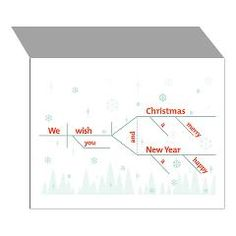 Christmas cards with a sentence diagram message. Grammar Girl