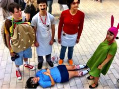 "The Belchers costumes - Bob's Burgers Halloween! So awesome!<-- More innocent person portrays it as ""costumes"" and ""Halloween"""