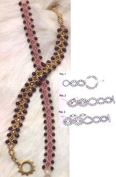 """beaded bracelet and beads. scheme: """"Do 15 bead loops instead of Bracelet shrinks when second layers are added…"""", """"beaded bracelet - instructions in Russ Bead Jewellery, Seed Bead Jewelry, Wire Jewelry, Jewelry Crafts, Jewelry Bracelets, Handmade Jewelry, Seed Beads, Silver Bracelets, Jewelry Ideas"""