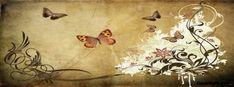 Autumn Butterflies Facebook Cover