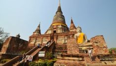Ayutthaya is an essential day trip if you are visiting nearby Bangkok. Thailand Shopping, Thailand Travel, Vegetarian Festival, Best Thai Food, Thailand Destinations, Ayutthaya Thailand, Songkran Festival, Beautiful Ruins, Buddhist Temple