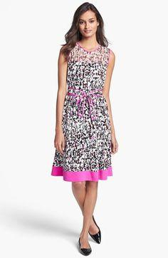 kate spade new york 'semma' bow belt full skirt dress available at #Nordstrom