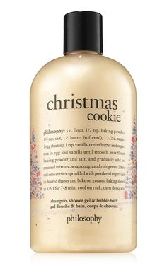 capture the essence of christmas morning with christmas cookie shampoo, shower gel & bubble bath.