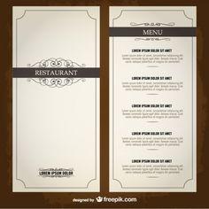Food menu list restaurant template