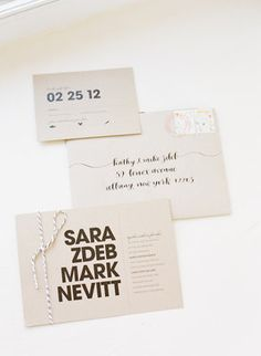 Modern black & white | Invitations by Paperee | Calligraphy by Meant to Be Calligraphy | Photo by Abby Jiu Photography