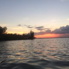 Kayaking under the setting sun on the Indian River