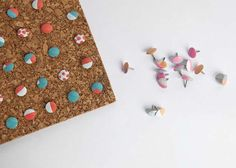 DIY Crafts Using Nail Polish - Colorful Thumbtacks - Fun, Cool, Easy and Cheap Craft Ideas for Girls, Teens, Tweens and Adults   Wire Flowers, Glue Gun Craft Projects and Jewelry Made From nailpolish - Water Marble Tutorials and How To With Step by Step Instructions http://diyprojectsforteens.com/best-nail-polish-crafts