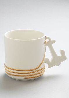 Sips Ahoy Mug. Explore exotic new tea flavors in this nautical mug from IMM Living!  #modcloth
