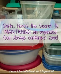 From Overwhelmed to Organized: The Secret for Organizing Food Storage Containers so They STAY Organized!!