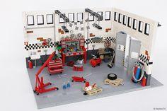 "~ Lego MOCs City ~ GARAGE LIFE - OLDTIMER VOLKSWAGEN ""SERVICE AND REPAIR"" WORKSHOP | by Andrea Lattanzio"