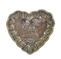 Cherub heart dish, Sheffield Makers mark S. with family crest. Available from Past & Present showcase Family Crest, Cherub, Sheffield, Makers Mark, Great Gifts, Dish, Take That, Personalized Items, Heart