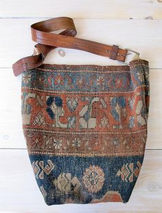 Carpet Bag, Antique Kilim Tote, Market, or Messenger Bag